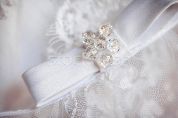 назад невеста подвенечное платье изображение девушки брак Сток-фото © prg0383