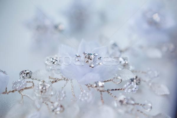 Mooie trouwjurk bruiloft mode bruid Stockfoto © prg0383