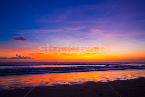 летнее время пляж тропические закат Бали острове Сток-фото © prg0383