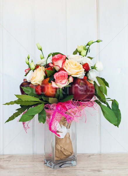 The original unusual edible bouquet of fruits Stock photo © prg0383