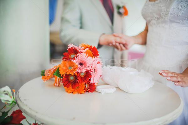 Schönen Hochzeitszeremonie Fragment wie Foto Hand Stock foto © prg0383