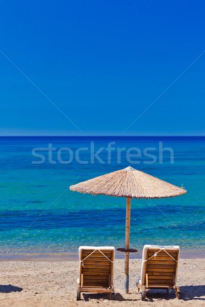 Görmek Yunanistan plaj gökyüzü Stok fotoğraf © prg0383