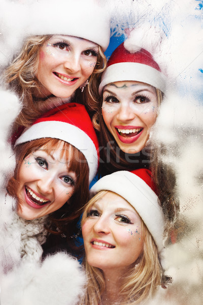 beautiful women wearing a santa hat Stock photo © prg0383