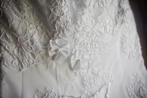 Stock photo: wedding dress close up