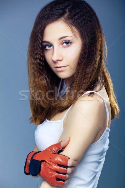 Genç kadın atış aktif yaşam tarzı sağlıklı yaşam Stok fotoğraf © prg0383