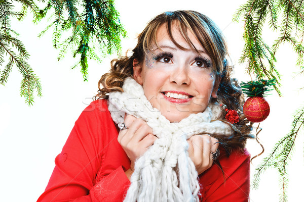 beautiful woman in warm clothing Stock photo © prg0383