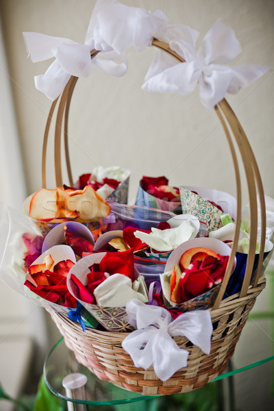 Papel boda belleza piso blanco Foto stock © prg0383