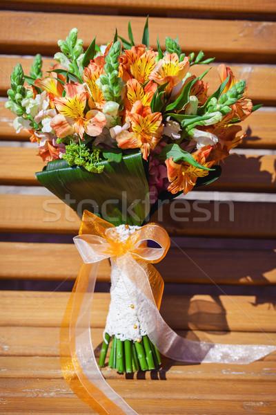 Hochzeit Liebe Design Blatt Stock foto © prg0383