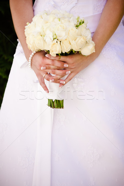 Bride with bouquet Stock photo © prg0383
