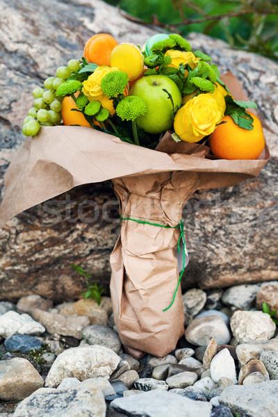 Original insólito comestible ramo frutas rock Foto stock © prg0383
