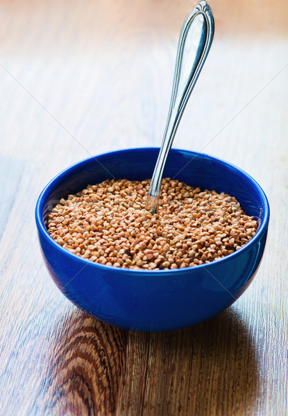 Boiled buckwheat in a bowl Stock photo © prg0383