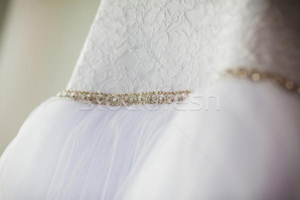Stockfoto: Mooie · trouwjurk · bruiloft · mode · bruid