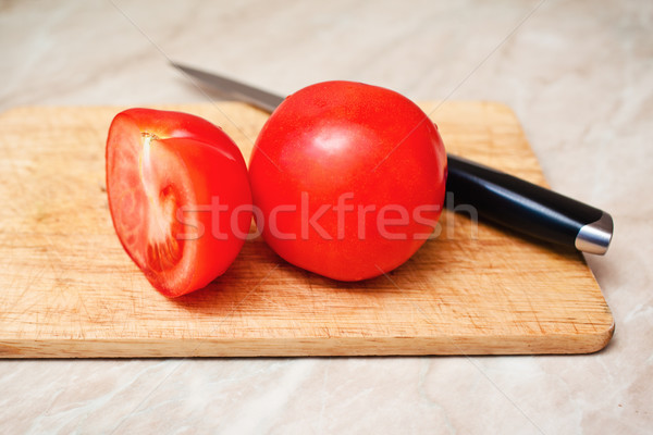 ripe tomato cut segment on board Stock photo © prg0383