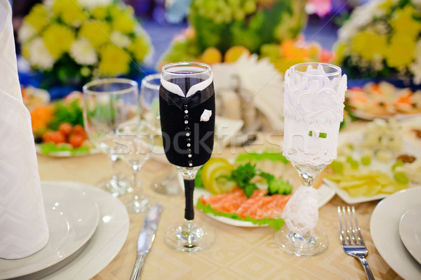 таблице набор события вечеринка цветок Сток-фото © prg0383