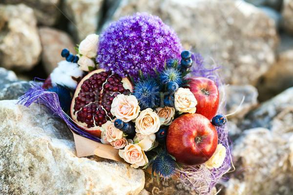 オリジナル 珍しい 食用 花束 果物 石 ストックフォト © prg0383