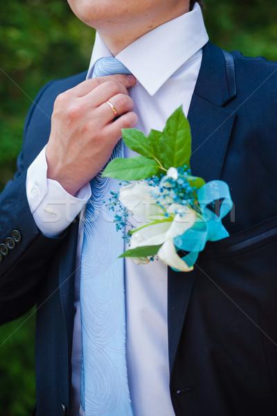 жених человека галстук мужчины женат празднования Сток-фото © prg0383