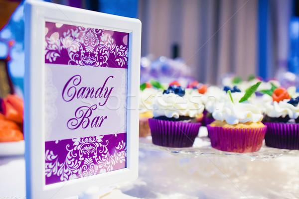 Table événement fête réception de mariage fleur Photo stock © prg0383
