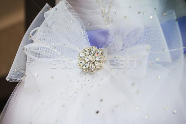 Güzel gelinlik düğün moda gelin Stok fotoğraf © prg0383