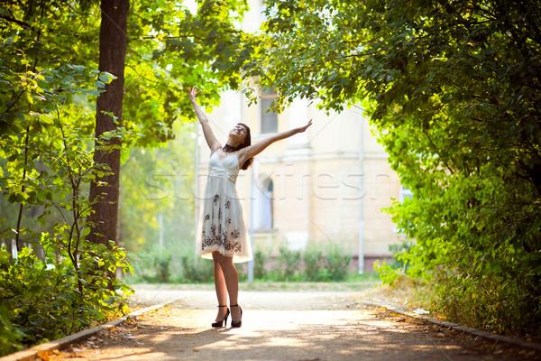 красивая женщина природы чистый воздух Сток-фото © prg0383