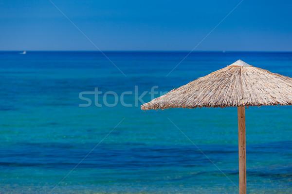 Sommerzeit Strand Griechenland Wasser Wolken Landschaft Stock foto © prg0383