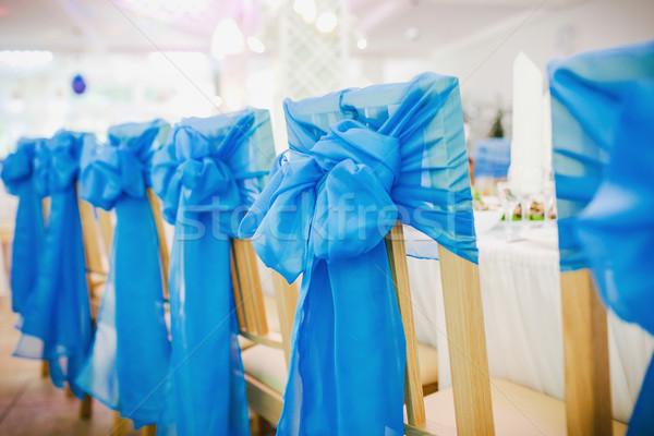пусто свадьба стульев цветы ресторан свечу Сток-фото © prg0383