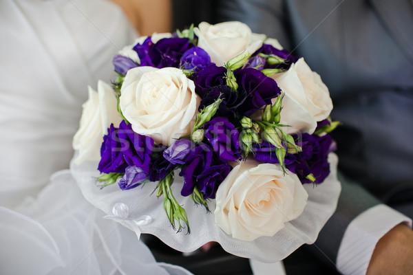 Bruid boeket bloem liefde Stockfoto © prg0383