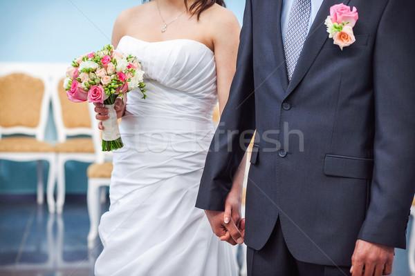 Güzel düğün töreni parça gibi fotoğraf el Stok fotoğraf © prg0383