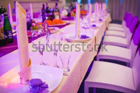 Elegante matrimonio ceremonia decoraciones boda amor Foto stock © prg0383