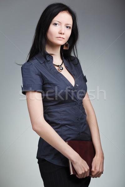 красивая женщина деловой женщины книга бизнеса девушки женщины Сток-фото © prg0383