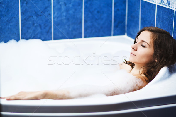 woman in bathtub Stock photo © prg0383