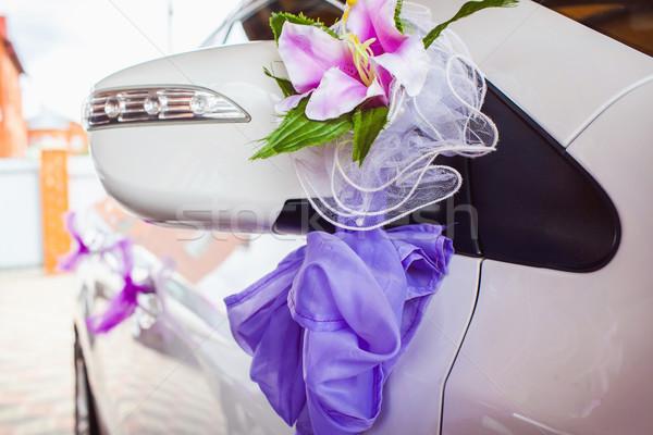 Hochzeit Auto Dekoration schönen glücklich Stock foto © prg0383