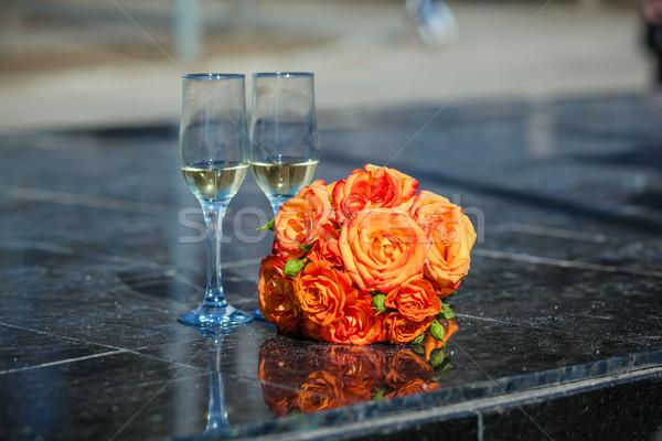 свадьба любви дизайна завода Сток-фото © prg0383