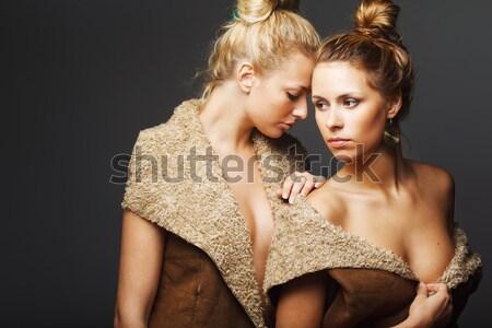 два молодые привлекательный женщины блондинка Сток-фото © prg0383