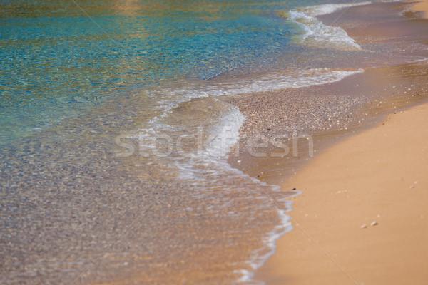 Welle Meer Sandstrand weichen Wasser Textur Stock foto © prg0383