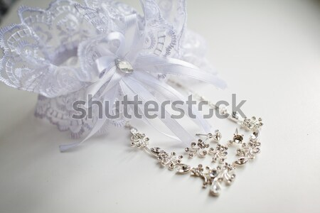 Stock photo: Garter of the bride
