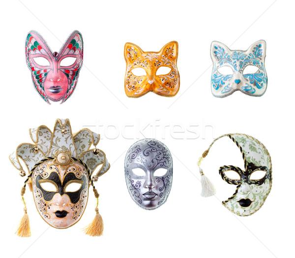 ベニスの マスク 孤立した 白 眼 マスク ストックフォト © prg0383