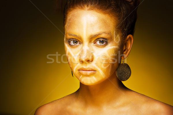 Piękna kobieta piękna egzotyczny Afryki kobiet moda Zdjęcia stock © prg0383