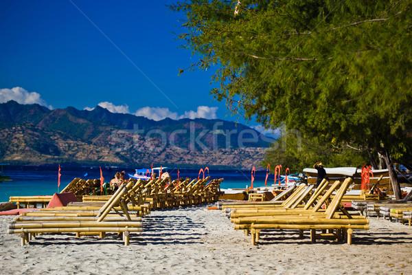 Ora legale spiaggia nubi natura panorama sfondo Foto d'archivio © prg0383