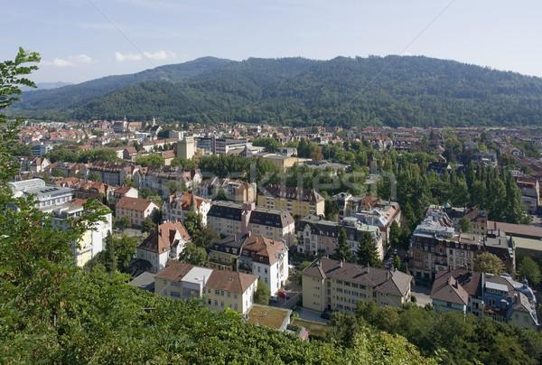 aerial view of Freiburg im Breisgau in sunny ambiance Stock photo © prill