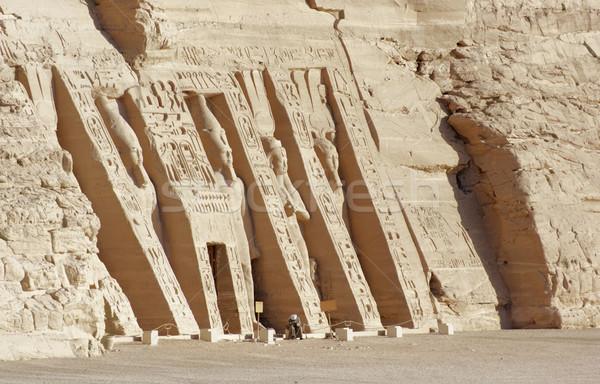 Egyiptom napos megvilágított építészeti részlet történelmi Afrika Stock fotó © prill