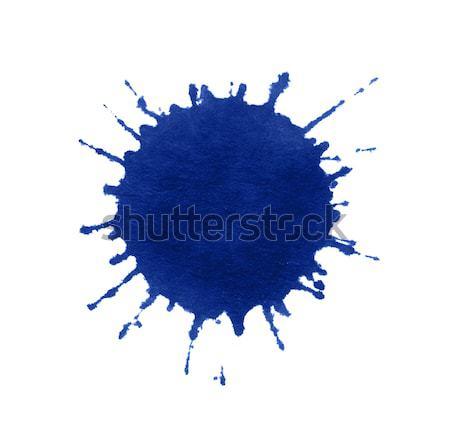 Verf splatter Blauw witte Maakt een reservekopie kleur Stockfoto © prill