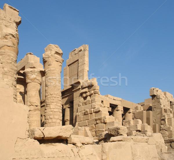Egyiptom napos megvilágított építészeti díszlet Afrika Stock fotó © prill