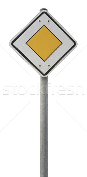 priority road sign Stock photo © prill