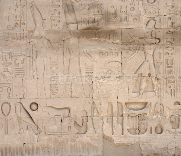 relief at Precinct of Amun-Re in Egypt Stock photo © prill