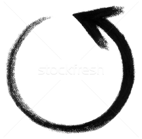 round arrow sketch Stock photo © prill