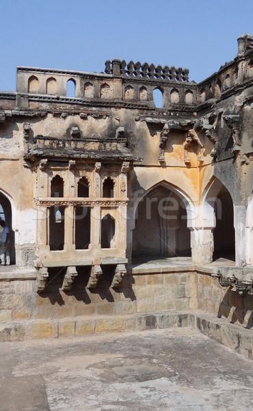temple detail at Vijayanagara Stock photo © prill