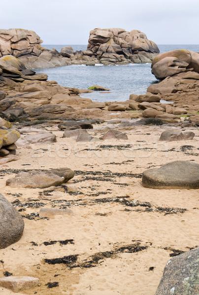вокруг декораций розовый Гранит побережье пляж Сток-фото © prill