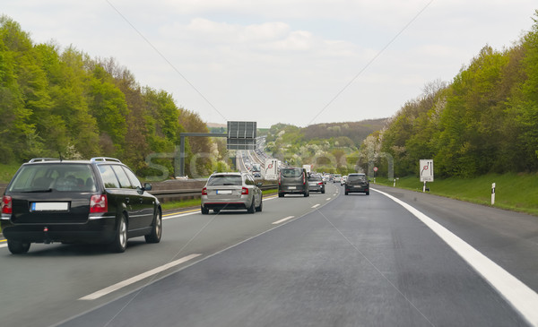 Carretera paisaje meridional Alemania carretera verano Foto stock © prill