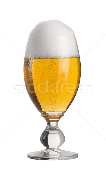 perfect glass of pils beer Stock photo © prill