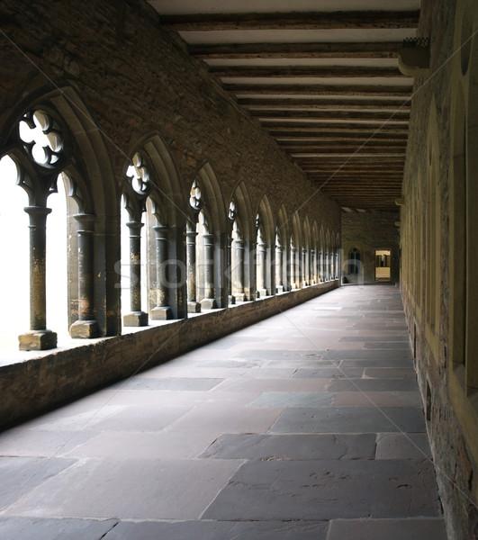 внутри подробность окна искусства Церкви каменные Сток-фото © prill